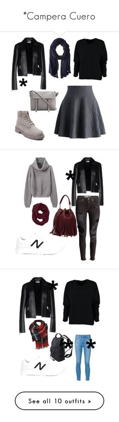 """""""*Campera Cuero"""" by camiorazi on Polyvore featuring outerwear, jackets, black, leather zip jacket, real leather jacket, zipper jacket, 100 leather jacket, genuine leather jacket, moda y Versace"""