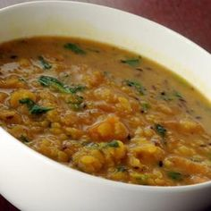 Cumin-Scented Pigeon Peas with Mango (Mango Curry with Toor Dal) Indian Food Recipes, Asian Recipes, Healthy Recipes, Ethnic Recipes, Yummy Recipes, Mango Curry, Pigeon Peas, Dal Recipe, Cooking Instructions