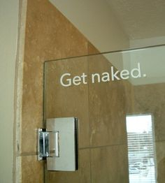 shower door!