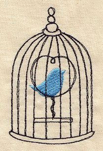Beautiful Birdcage 2 | Urban Threads: Unique and Awesome Embroidery Designs