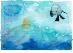 Print by Jo Oliver, 'I can dive like you' from  picture book Tatiara