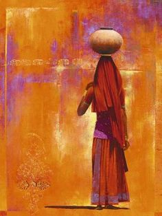 Ravi Varghese Kovalam Art Print Poster Poster love the layers of color/texture African Artwork, Indian Art Paintings, Abstract Paintings, Oil Paintings, Rajasthani Painting, Art Africain, India Art, India India, Pintura Country