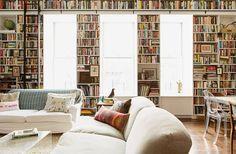 Dreamy sunny Brooklyn loft with books books & more books
