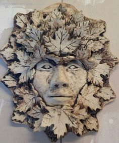 Greenman Mask by Susan L. Powers, The Glass Owl and Pottery Works Studio, Glade Spring,  VA.