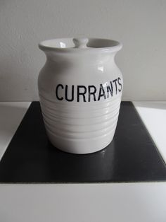 Edwardian lidded Currants jar from Countryandchic on The Hoarde