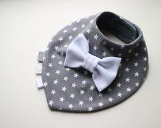 VENTA gemelos babero set extraíble atar / bow tie agradable