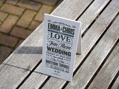 Letterpress Wedding Invitation - Steven Wright