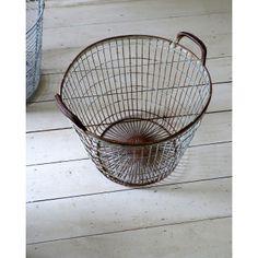 Vintage Factory Wire Storage Baskets