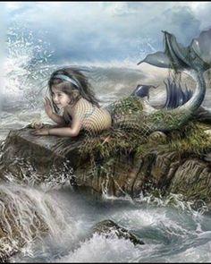 Fantasy Mermaids, Real Mermaids, Mermaids And Mermen, Fantasy Creatures, Mythical Creatures, Sea Creatures, Mermaid Cove, Mermaid Art, Mermaid Pictures