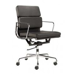 EA217 Office Chair inspired by Eames available in TAN LEATHER