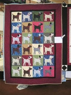 Woolley Fiber Quilters: Dog quilts and a Dawg quilt
