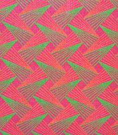 Tissu Shweshwe Rose Vert et Orange - 100% coton - 50 cms - fabriqué en Afrique du Sud by MathildeAndCo on Etsy