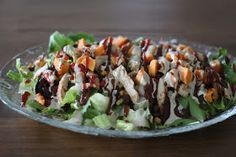 A Bountiful Kitchen: BBQ Chicken Salad with Creamy BBQ Cilantro Lime Dressing #ABKblendtecgiveaway