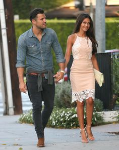Mark Wright and Michelle Keegan were spotted heading out for dinner in Beverly Hills [Wenn]