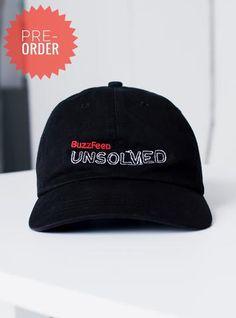 54b352b75b8 BuzzFeed Unsolved Logo Dad Hat Hat Shop