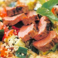 Marinated lamb fillets with honey and lemon couscous - lamb fillet recipe - Good Housekeeping