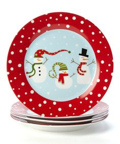 Take a look at this Winter Fun Plate - Set of Four by Design Imports on #zulily today!