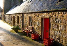 Aberdeen, Fittie - fisherman's cottages