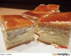 Karamelový větrník na plech Cheesecake, Dairy, Treats, Food And Drink, Cookies, Chocolate, Baking, Sweet, Recipes