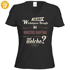 getshirts - RAHMENLOS® Geschenke - T-Shirt Damen V-Neck - Wichtigere Berufe als - Industrie Kauffrau - red creme - schwarz XXL (*Partner-Link)