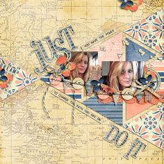 """A page by IntenseMagic using """"Adjust Your Sails Bundle"""" by Litabells Designs """"Taking Shape"""" by Little Green Frog"""