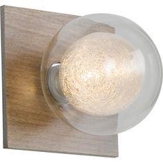 applique venus halogne co 1 x 28 w g9 bois clair leroy merlin - Spot Applique Sdb