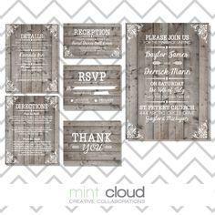 Faire-part invitation mariage bois