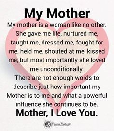 Inspiring Mother Daughter Quotes and Relationship Goals - Mutter Thank You Mom Quotes, Love My Parents Quotes, Mom Quotes From Daughter, Happy Mother Day Quotes, Happy Birthday Mom From Daughter, Best Mom Quotes, For My Mom Quotes, Quotes On Mothers, Happy Mothers