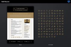 Free icons supplied with Resume Template by www.ikono.me