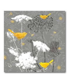 Love this Gray & Gold Finch II Gallery-Wrapped Canvas on #zulily! #zulilyfinds