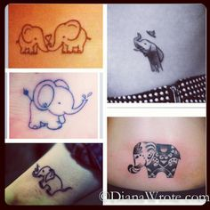 Outline Elephant Tattoos Designs For Men