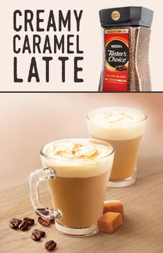 Coffee and caramel are an unbeatable combination -- especially when you use  NESCAFÉ Taster's Choice House Blend. Our coffee starts with responsibly sourced beans, carefully roasted and brewed to exact temperatures. We flash freeze our coffee to lock in flavor and aroma so you can count on your cup to be just right every time.
