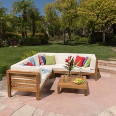amazing outdoor sectional diy 2x4 stained wood simple nice cushions rh pinterest com