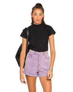 Motel Ibu High waisted Short In Pastel Lilac, TopShop, ASOS, House of Fraser, Nasty gal