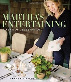 Martha's Entertaining - In this exquisite and very personal book, Martha Stewart welcomes you into her world, where she entertains in the expressive and beautiful style that she has made so famous. Whether a simple blueberry breakfast on a Sunday morning in Maine or a more lavish holiday dinner at Bedford, each of the gatherings is equally memorable, for what Martha cherishes above all is spending time and sharing delicious food with her family and friends. 432 pages, hardcover.