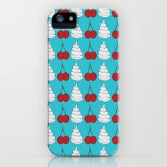 cherries and cream  iPhone Case by Elliot Swanson  - $35.00