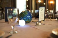 Planets make perfect centerpieces. | 21 Stellar Ideas For An Astronomy-Themed Wedding