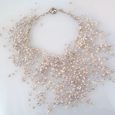 Pearl Necklace by christinebossler on Etsy