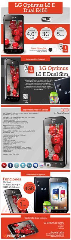 Anuncio, LG Optimus L5II Dual E455. Cliente Punto Cell. Elaborado por iGrafi