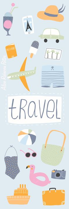 Travel icons and illustrations - Holiday illustrations - editorial illustration - Alice Potter Illustration 2017