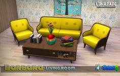 Barbara Livingroom Set at Lunararc via Sims 4 Updates
