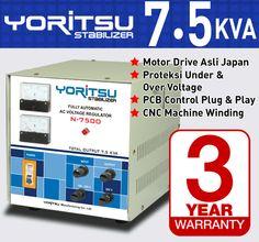Stabilizer Yoritsu N-7500 kapasitas 7,5 KVA.  http:// hexta.co.id, email : sales@hexta.co.id, Telp : (021) 2925-5900, 2925-5905 (Huntings)