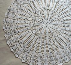 Kitchen Table Crochet Decoration