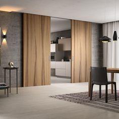 Porte coulissante / en bois LIGNUM NOCE NATURAL TOUCH FerreroLegno
