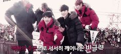 EXO Chinese members with their tour guides D.O and Baekhyun