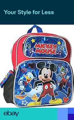 b173ff7aa77 Disney Mickey Mouse 12 Toddler School Backpack Boys Book Bag