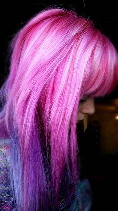 Pink and blue works well together! More at: http://www.hairchalk.co