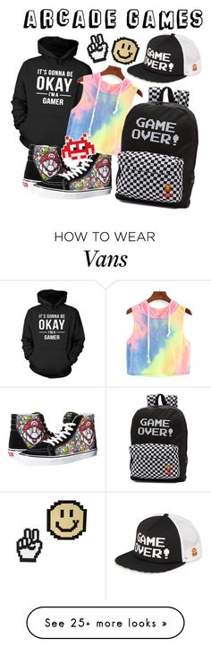"""""""Arcade Games"""" by iuliaiulia-1 on Polyvore featuring Topshop, Vans and Anya Hindmarch"""