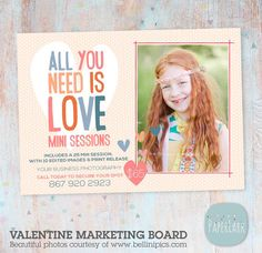 Valentine Marketing Board Template IV011 from Paper Lark Designs