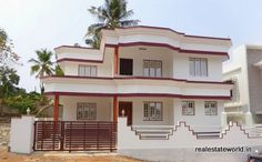 Kureekkad, House in 4 cent 1700 sqft. 3 BHK for sale. Semi furnished house has car porch, sitout, visiting and dining, 3 bath attached bedroom, work area, upper living, balcony, furnished kitchen, well water. realestateworld.in